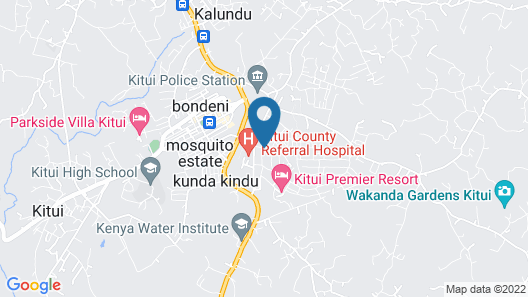 Kitui Cottages Guest House Map