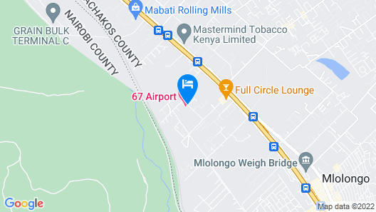 67 Airport Hotel Map