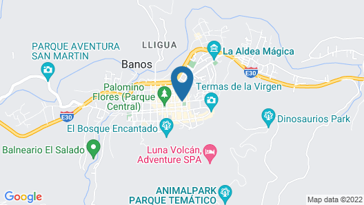 Hostal Santa Cruz Backpackers Map
