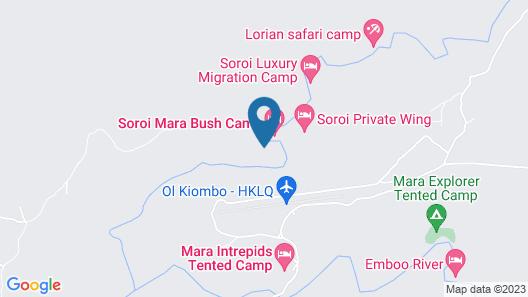 Mara Bush Camp - Private Wing Map