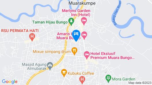 Amaris Hotel Muara Bungo - Jambi Map
