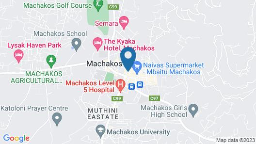 The Machakos Courtyard Inn Map