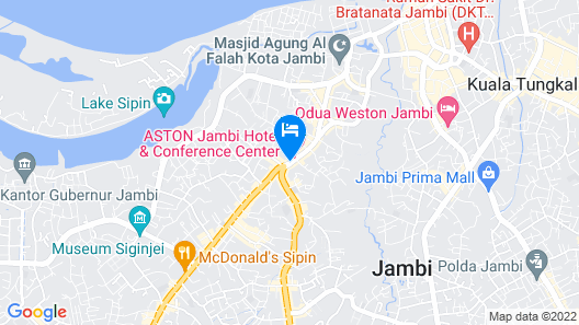 Aston Jambi Hotel & Conference Center Map
