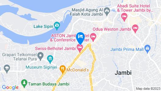 Luminor Hotel Jambi Kebun Jeruk Map