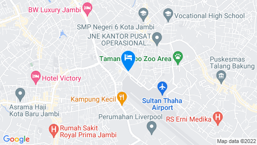 BW Luxury Jambi Map
