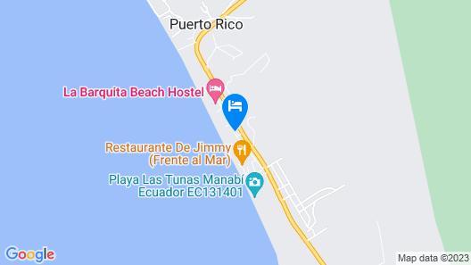 La Barquita Beach Hostel Map