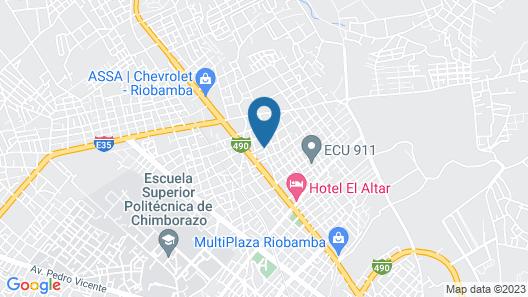 Hostal Guajacum Map