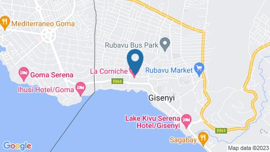 La Corniche Gisenyi Map
