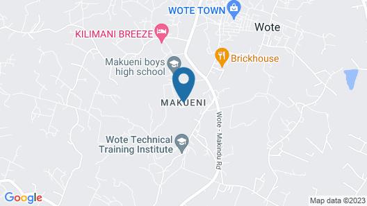 Acacia Resort Wote-Makueni Map