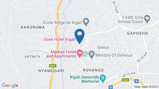 Dove Hotel Kigali Map