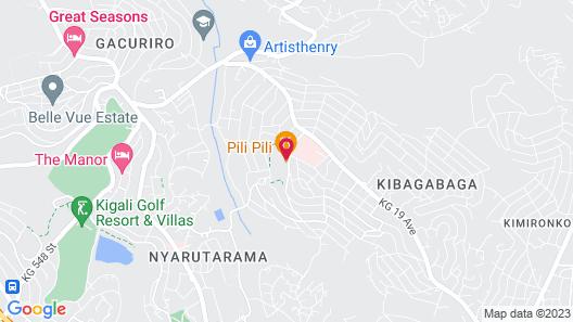 Pili Pili Boutique Hotel Map