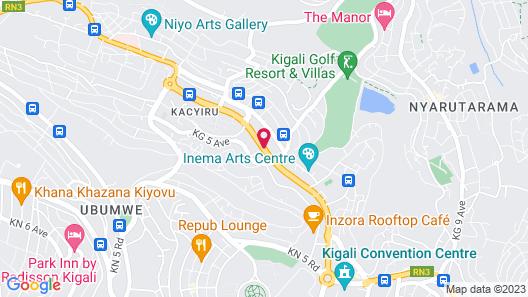 CityBlue Hotel Embassy Map