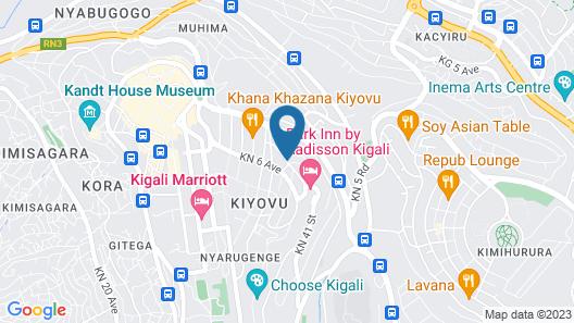 Urban by CityBlue, Kigali, Rwanda Map