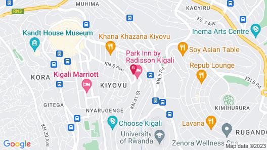 Gorillas City Centre Hotel Map
