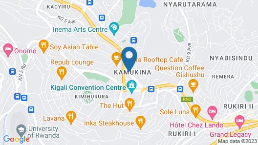 Discover Rwanda Youth Hostel Map