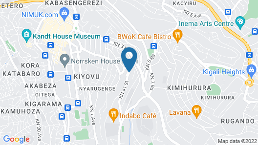 Park Inn by Radisson Kigali Map