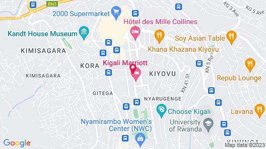Kigali Marriott Hotel Map