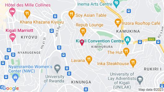 Zenith Hotel Kigali Map