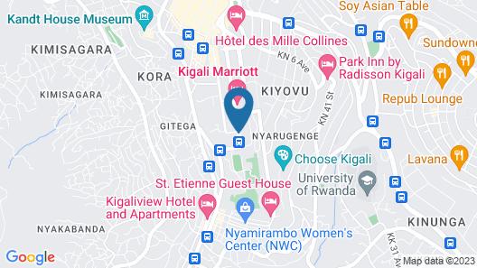 Kigali Serena Hotel Map