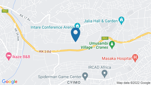 A spacious house in Kigali Map