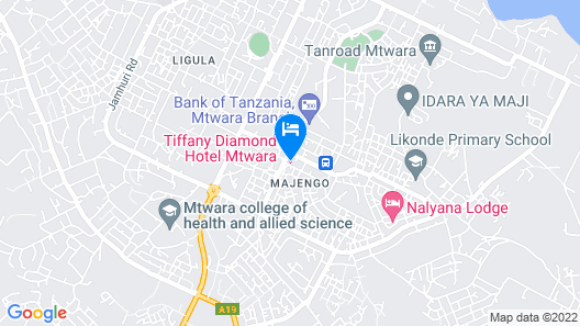 Tiffany Diamond Hotels- Mtwara Map
