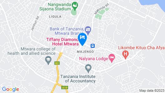 Tiffany Diamond Hotels-Mtwara Map