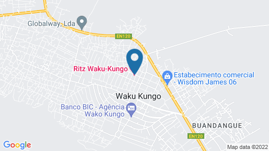 Hotel Ritz Waku-Kungo Map