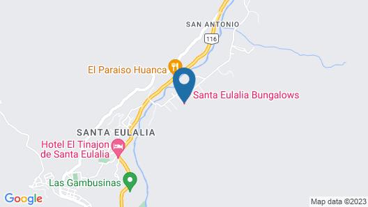 Santa Eulalia Bungalows - Hotel Map