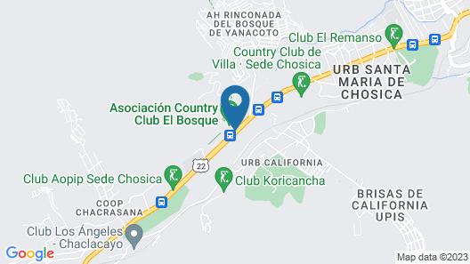 Hotel El Angolo Chosica Map