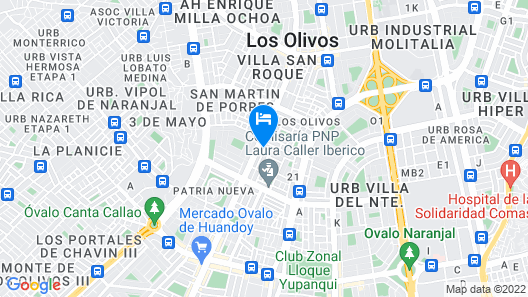 Rosenverg House Lima Airport Map