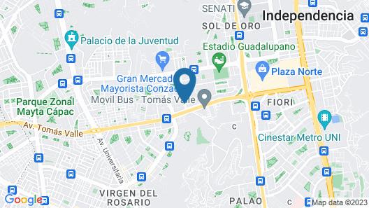Posada del Rey - Lima Airport Hostel Map