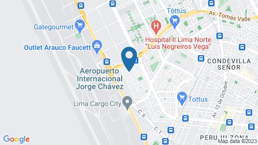 La Casa Del Viajero - Aeropuerto Lima Map