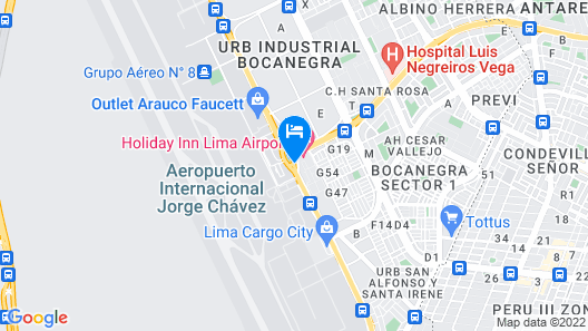 Holiday Inn Lima Airport Map