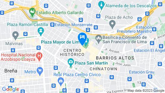 Plaza Mayor Lima Map