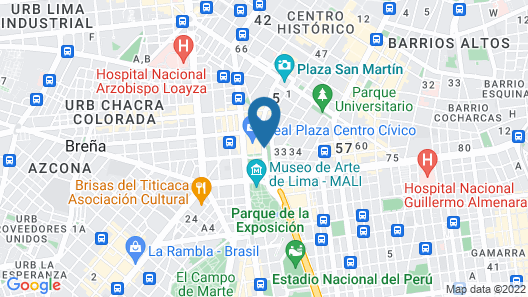 Sheraton Lima Hotel & Convention Center Map