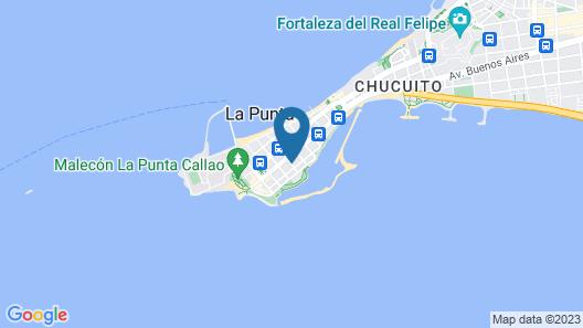 Hostal La Punta Map