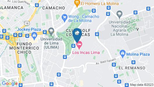 Los Incas Lima Hotel Map