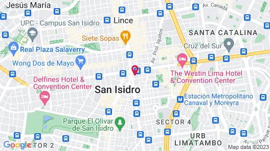 Trendy Host Black - San Isidro Map