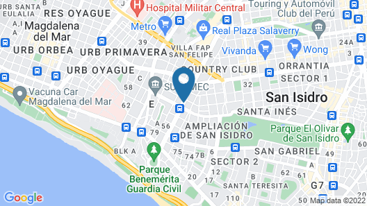 Wyndham Costa Del Sol Lima City Map