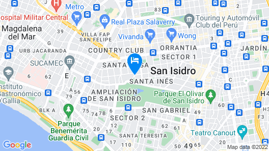 Country Club Lima Hotel - The Leading Hotels of the World Map