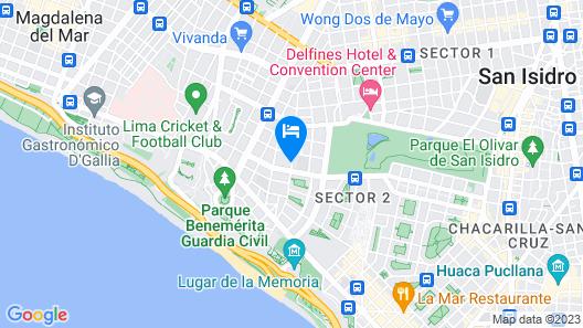 El Golf Hotel Boutique Map