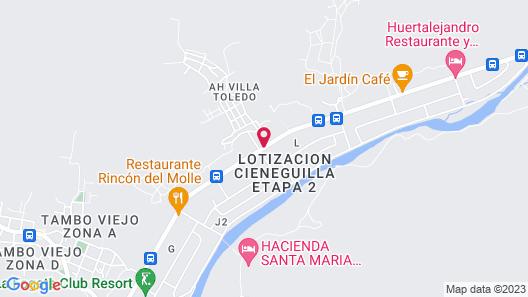 COLCA Casa Suite Cieneguilla Map