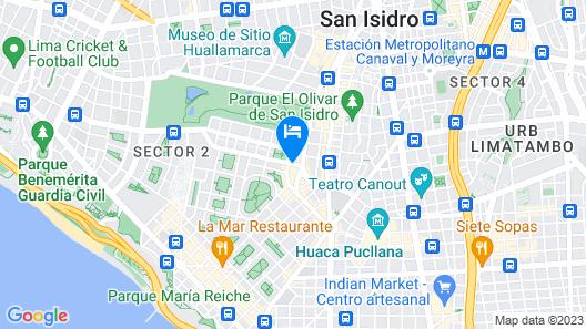 Roosevelt Hotel & Suites Map