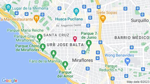 Trendy Host Canvas, Miraflores Map
