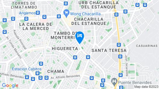 Apart Hotel Caminos del Inca Map