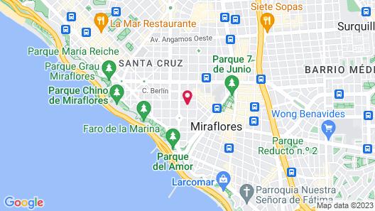 Antigua Miraflores Hotel Map
