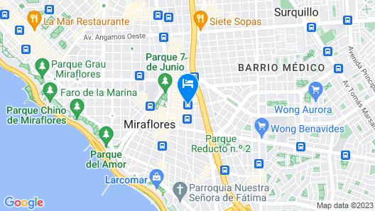Casa Andina Premium Miraflores Map