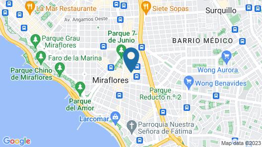 Courtyard by Marriott Lima Miraflores Map