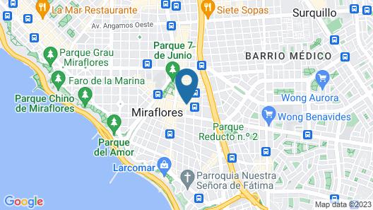 Selina Miraflores Lima Map