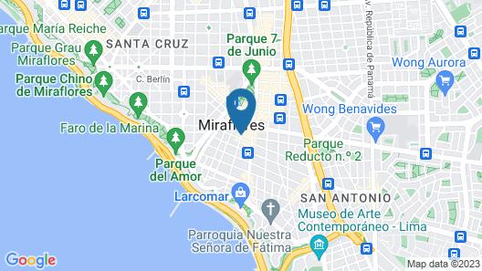 Crowne Plaza Lima Map